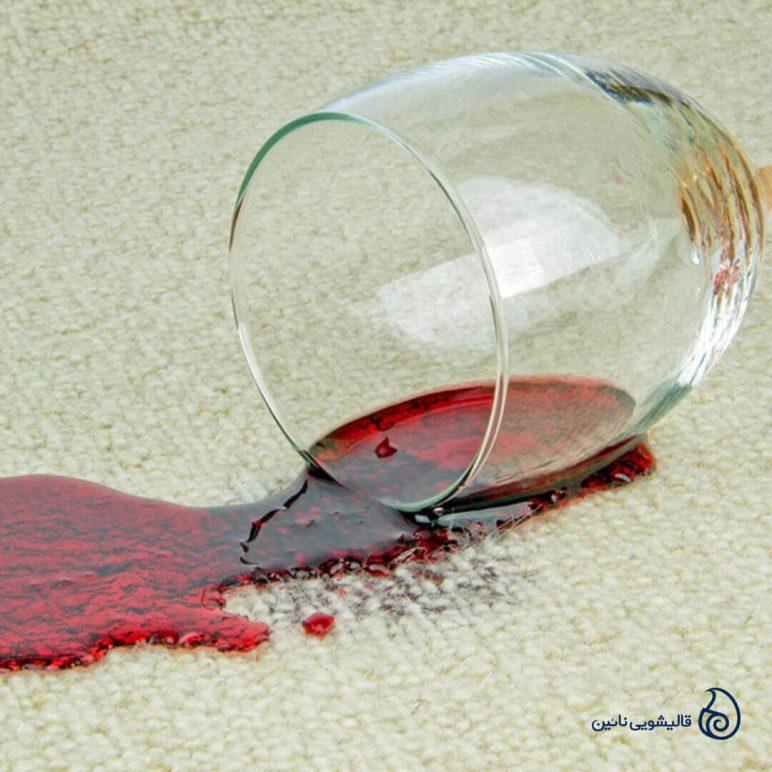 نحوه پاک کردن لکه آبمیوه از روی فرش